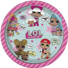 8 LOL Suprise! Paper Party Plates